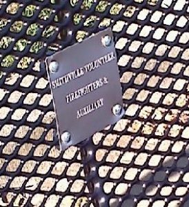 Memorial Plaque for benches, tables or trash cans