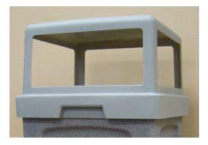 TP40H4 - 4-Way Square Plastic Lid - Open